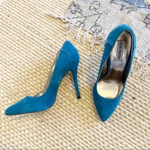 Steve Madden New✨blue suede heels